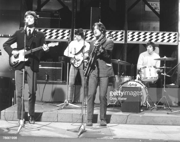 Ray Davies Pete Quaife Dave Davies and Mick Avory of The Kinks early 1960s on Ready Steady Go London UK