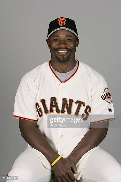Ray Durham of the San Francisco Giants poses for a portrait during photo day at Scottsdale Stadium on March 2 2005 in Scottsdale Arizona