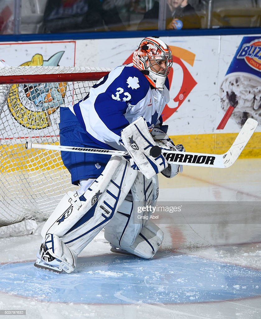 Ray Emery #33 of the Toronto Marlies skates in warmup prior to a game against the Syracuse Crunch during AHL game action on January 3, 2016 at Ricoh Coliseum in Toronto, Ontario, Canada.