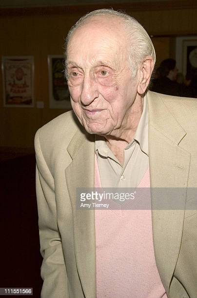 Ray Evans during A Centennial Tribute to Harold Arlen at Academy of Motion Picture Arts and Sciences in Beverly Hills California United States