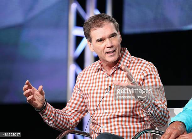 Ray Evernham Host of AMERICARNA threetime NASCAR Champion and TV sports correspondent speaks onstage during the 'Velocity Americarna' panel...