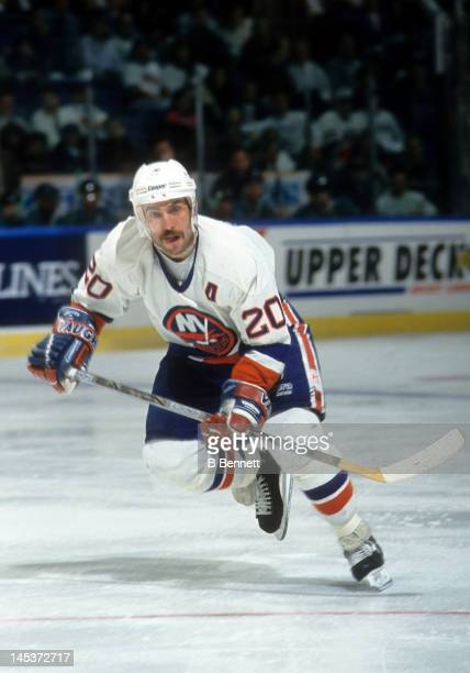 Ray Ferraro of the New York Islanders skates on the ice during an NHL circa 1994 at the Nassau Coliseum in Uniondale New York