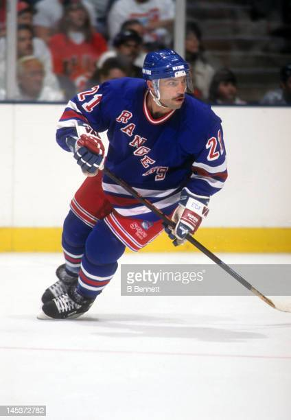 Ray Ferraro of the New York Rangers skates on the ice during an NHL game circa 1996