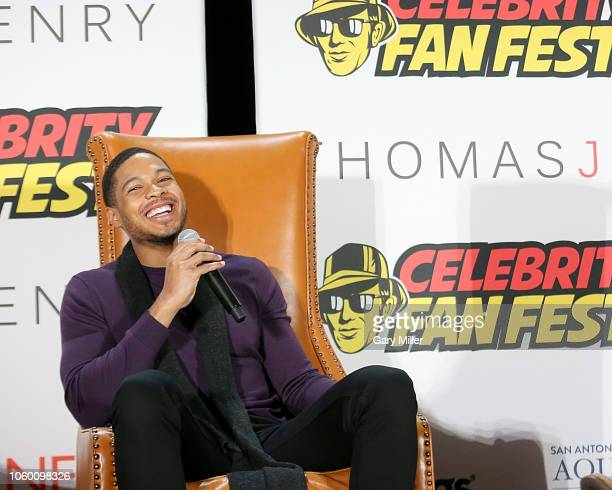 Ray Fisher attends the inaugural Celebrity Fan Fest at JW Marriott San Antonio on November 10 2018 in San Antonio Texas