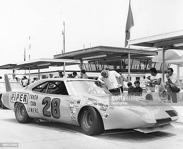 Ray Fox's winged Dodge Charger Daytona that Fred Lorenzen drove in the Firecracker 400 at Daytona International Speedway Lorenzen finished 32nd after...