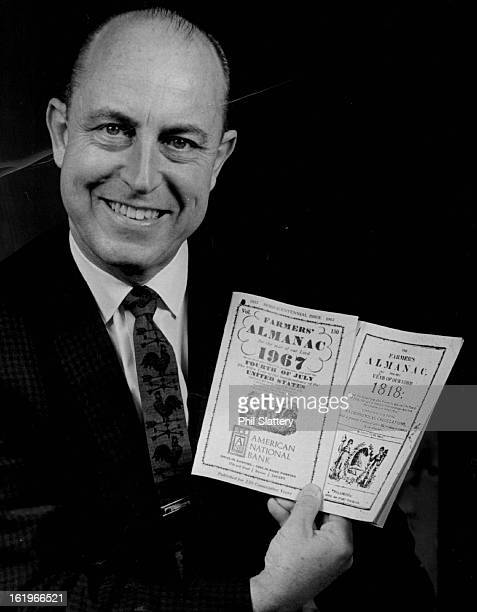 OCT 3 1966 OCT 4 1966 OCT 5 1966 Ray Geiger Holds 1818 And Latest Farmers Almanac He's editor and publisher of onetime rural folks' bible