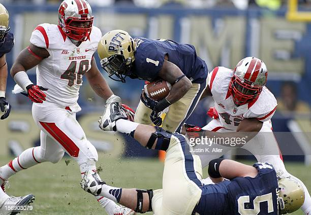 Ray Graham of the Pittsburgh Panthers carries the ball against the Rutgers Scarlet Knights during the game on November 24 2012 at Heinz Field in...