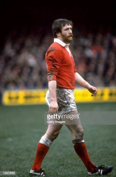 Ray Gravell of Wales waits for the ball during a Five Nations match Mandatory Credit Allsport UK /Allsport