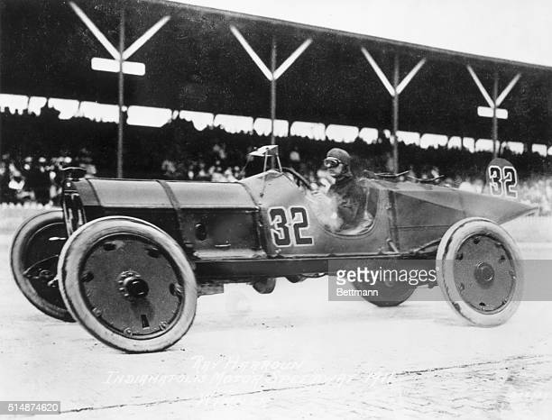 Ray Harroun driving his Marmon Wasp was the first winner of the Indy Race His average speed was 7459 miles per hour