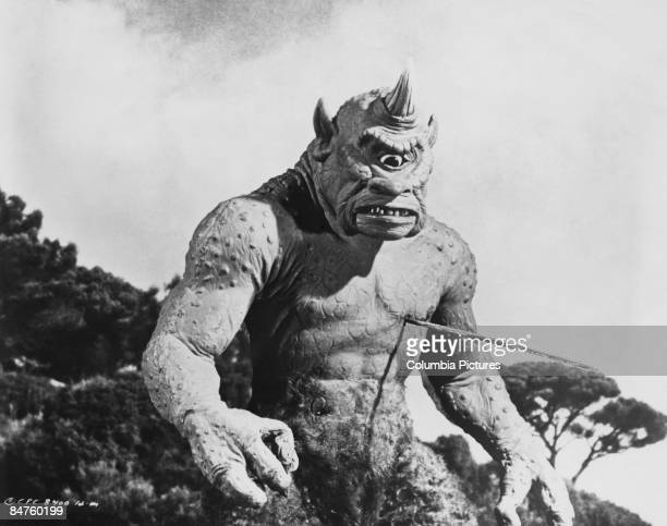 Ray Harryhausen's monstrous cyclops from 'The 7th Voyage of Sinbad' 1958
