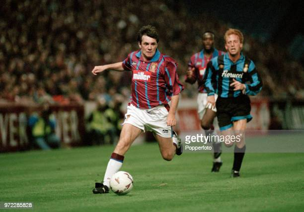 Ray Houghton of Aston Villa in action during the UEFA Cup 1st round 2nd leg between Aston Villa and Inter Milan at Villa Park on September 29, 1994...