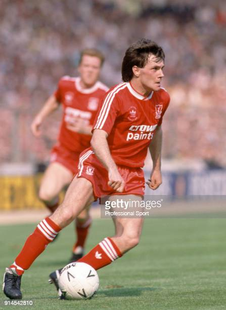 Ray Houghton of Liverpool in action during the FA Cup Final between Liverpool and Wimbledon at Wembley Stadium on May 14, 1988 in London, England.