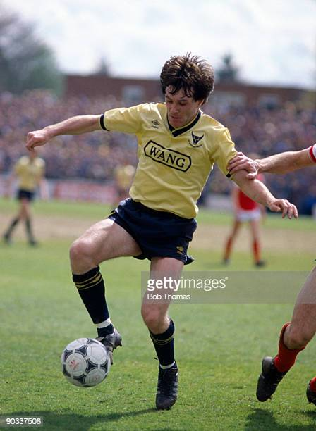 Ray Houghton of Oxford United during the Oxford United v Arsenal Division 1 match held at the Manor ground on the 5th May 1986