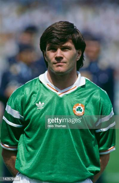 Ray Houghton of the Republic of Ireland during the European Championship at Stuttgart, 12th June 1988. The score was England 0, Republic of Ireland 1.