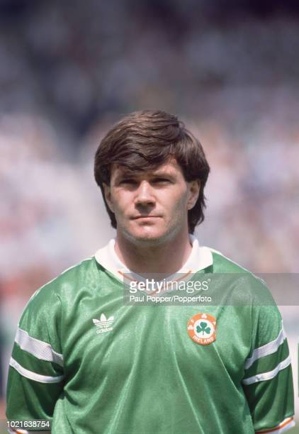 Ray Houghton of the Republic of Ireland lines up before the UEFA Euro 88 Group 2 match between England and the Republic of Ireland at the...