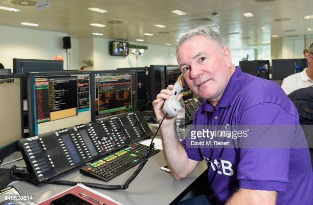 Ray Houghton representing DEBRA, makes a trade at BGC Charity Day on September 11, 2017 in Canary Wharf, London, United Kingdom.