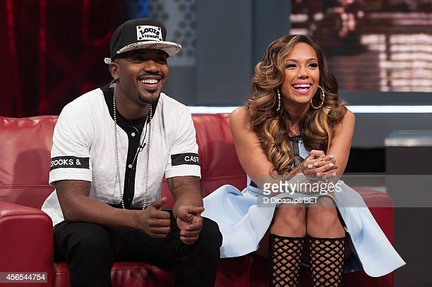 Ray J and Erica Mena host BET's 106 Park at BET studios on October 1 2014 in New York City