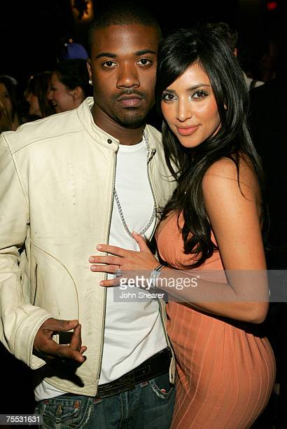 Ray J and Kim Kardashian at the Roosevelt Hotel in Hollywood California