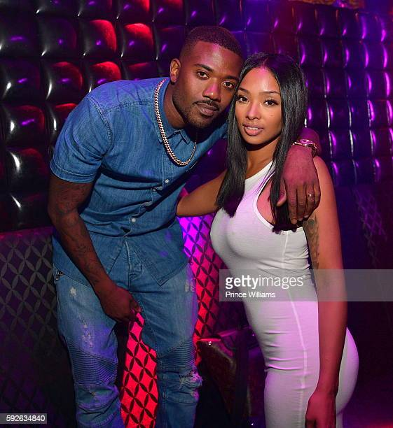 Ray J and Princess Love attend a Hairshow After party at Medusa on August 21 2016 in Atlanta Georgia