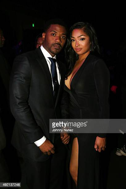 Ray J and Princess Love attend the 2015 BET Hip Hop Awards at Boisfeuillet Jones Atlanta Civic Center on October 9 in Atlanta Georgia