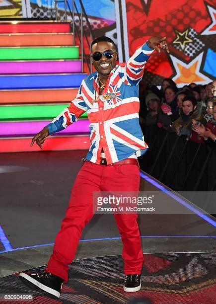 Ray J enters the Celebrity Big Brother House at Elstree Studios on January 3 2017 in Borehamwood England
