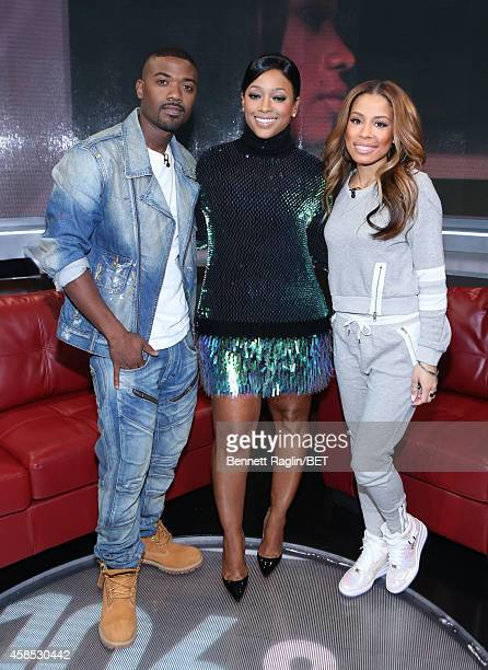 Ray J Trina and Keshia Chante attend 106 and Park at BET studio on November 5 2014 in New York City
