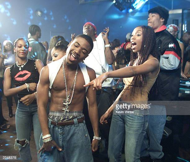Ray J with his sister Brandy on the set of his new video 'Wait A Minute' featuring Lil' Kim his new single on Atlantic Records in Los Angeles Ca...