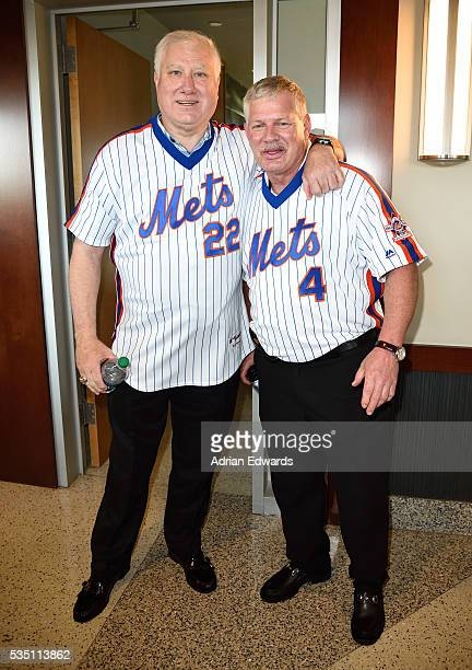 Ray Knight and Lenny Dykstra at the 1986 Mets 30th Anniversary Reunion Celebration held at Citi Field on May 28 2016 in New York City