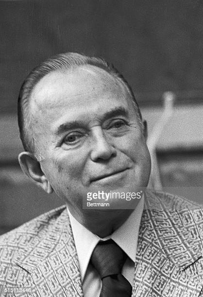 Ray Kroc, Chairman of the Board of McDonald's Corporation and owner of the San Diego Padres National League baseball team.