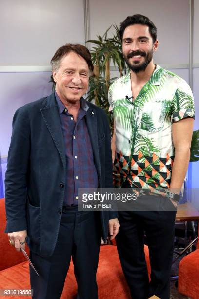 Ray Kurzweil and Douglas Caballero attend The SXSW Facebook Live Studio Ray Kurtzwell 2018 SXSW Conference and Festivals at JW Marriott Austin on...