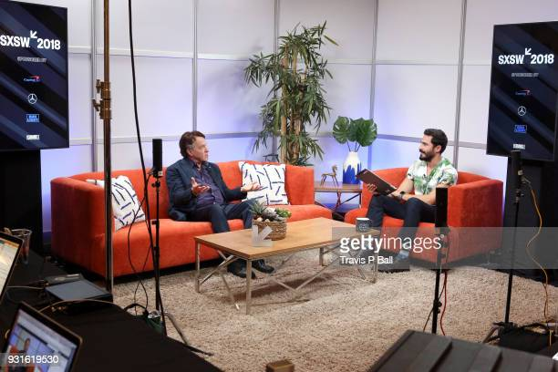 Ray Kurzweil and Douglas Caballero speak at The SXSW Facebook Live Studio Ray Kurtzwell 2018 SXSW Conference and Festivals at JW Marriott Austin on...