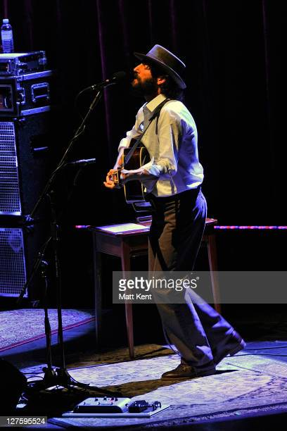 Ray Lamontagne and the Pariah Dogs perform at the Royal Festival Hall on February 21, 2011 in London, England.