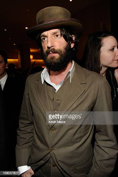 Ray Lamontagne arrives at the 2011 Pre-GRAMMY Gala and Salute To Industry Icons Honoring David Geffen at The Beverly Hilton Hotel on February 12,...