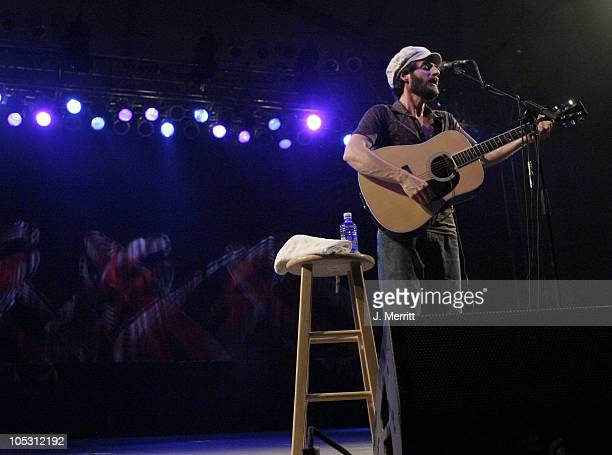 """Ray Lamontagne during Bonnaroo 2004 - Pre Festivities - Ray Lamontagne at Centeroo Performance Fields - """"That Tent"""" in Manchester, Tennesee, United..."""