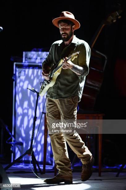Ray LaMontagne performs at Fillmore Miami Beach on July 12, 2014 in Miami Beach, Florida.