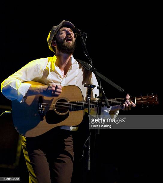 Ray Lamontagne performs at the Bridgestone Arena on August 22, 2010 in Nashville, Tennessee.