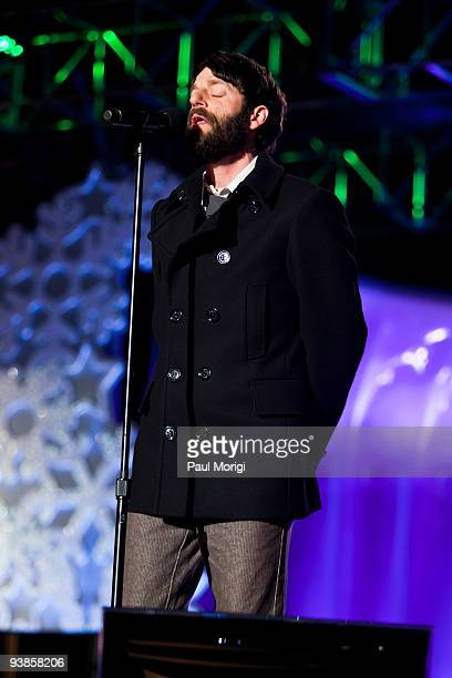 Ray LaMontagne performs during the 2009 National Christmas Tree Lighting Ceremony and the opening ceremonies for the 2009 National Christmas Tree...
