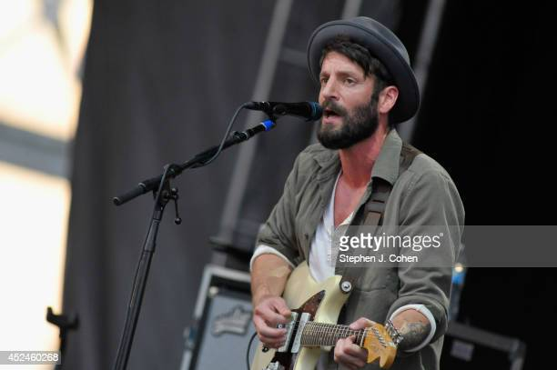 Ray LaMontagne performs during the 2014 Forecastle Music Festival at Louisville Waterfront Park on July 20, 2014 in Louisville, Kentucky.