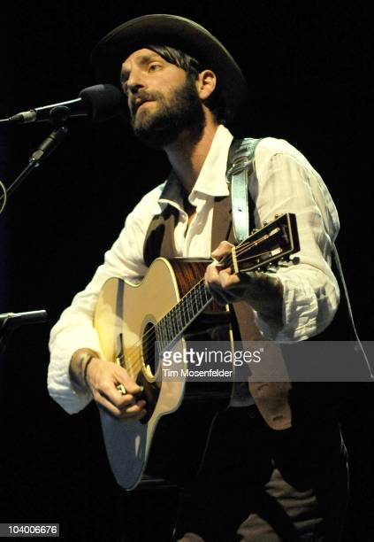 Ray LaMontagne performs in support of his God Willin' and the Creek Don't Rise release at The Greek Theater on September 10 2010 in Berkeley...