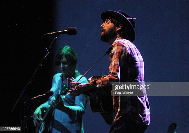 Ray LaMontagne performs with the Pariah Dogs at the Jay Pritzker Pavillion on June 7, 2011 in Chicago, Illinois.