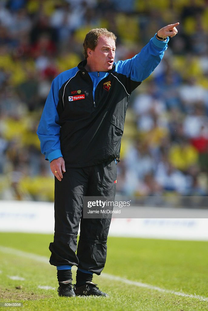Ray Lewington manager of Watford during the Nationwide Division One match between Watford and Norwich City at Vicarage Road on April 24, 2004 in Watford, England.