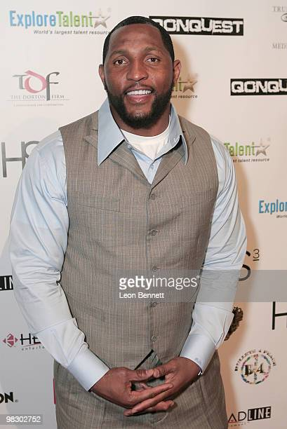 Ray Lewis arrives at Boulevard3 on April 6 2010 in Hollywood California