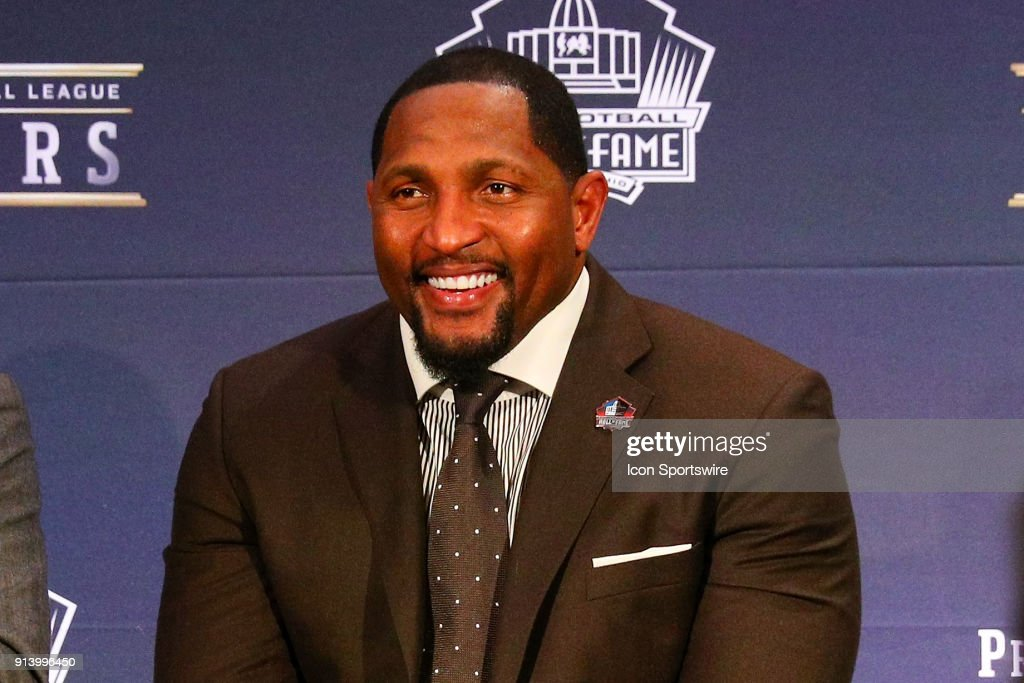 Ray Lewis selected to the Pro Football Hall of Fame at NFL Honors during Super Bowl LII week on February 3, 2018, at Northrop at the University of Minnesota in Minneapolis, MN.