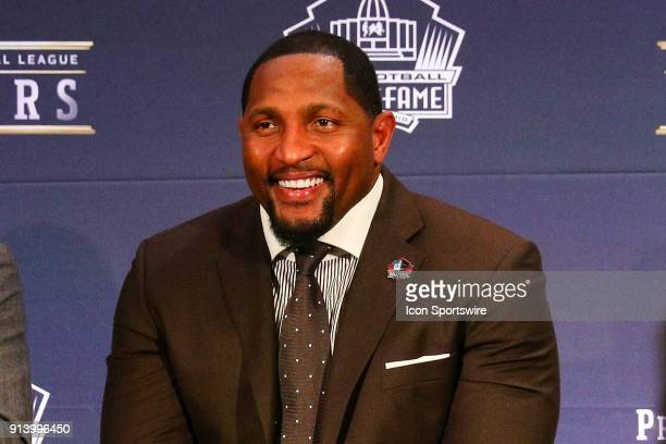 Ray Lewis selected to the Pro Football Hall of Fame at NFL Honors during Super Bowl LII week on February 3 at Northrop at the University of Minnesota...