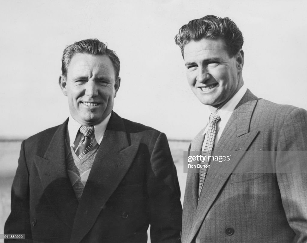 Ray Lindwall And Keith Miller : News Photo
