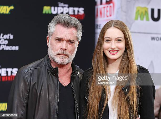 """Ray Liotta and daughter Karsen Liotta arrive at the Los Angeles premiere of """"Muppets Most Wanted"""" held at the El Capitan Theatre on March 11, 2014 in..."""