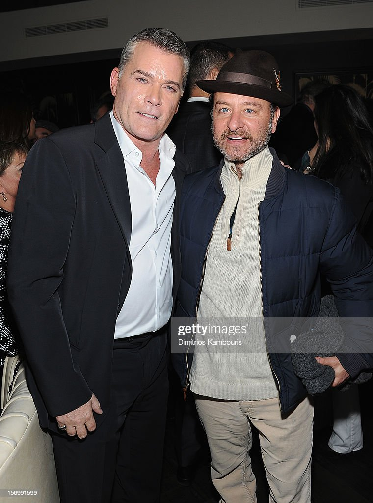 Ray Liotta and Fisher Stevens attend The Cinema Society With Men's Health And DeLeon Tequila Host A Screening Of The Weinstein Company's 'Killing Them Softly' After Party on November 26, 2012 in New York City.