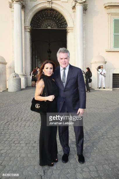 Ray Liotta and his wife attend the Dinner and Entertainment at Palazzo Colonna as part of the 2017 Celebrity Fight Night in Italy Benefiting The...