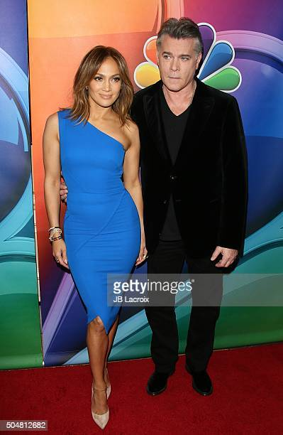 Ray Liotta and Jennifer Lopez attend the Winter TCA Tour NBCUniversal Press Tour at the Langham Huntington Hotel on January 13 2016 in Pasadena...