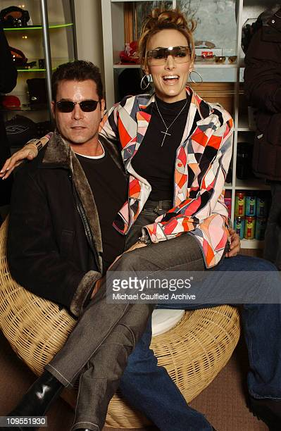 Ray Liotta and Michelle Liotta visit the Chrysler Lodge at the 2002 Sundance Film Festival